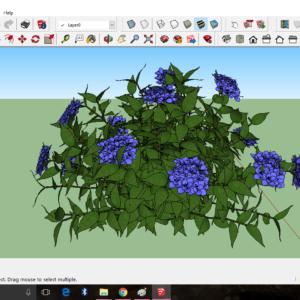 دانلود آبجکت درخت و گل در اسکچاپ